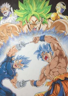 Fusion I wanted to see Dragon Ball Gt, Dragon Ball Image, Goku Blue, Goku E Vegeta, Majin, Super Anime, Akira, Ball Drawing, Fanart