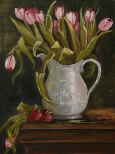 Pearl Pitcher and Tulips https://www.etsy.com/shop/BarbBrownsFineArt