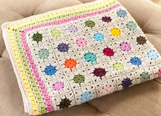 Cluster Burst Afghan - a great blanket for kids of all ages!