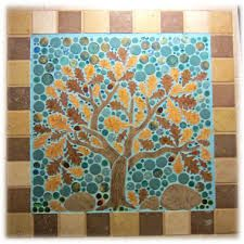Image result for kitchen wall mosaic tree