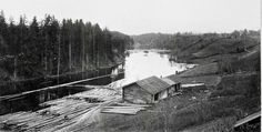 Värmland Eda kommun Koppom Järnskog Brukssågen ovan bron