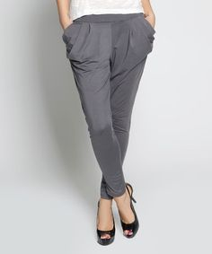 Love this Gray Florence Harem Pants on #zulily! #zulilyfinds