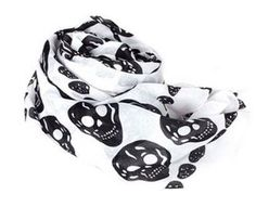 *HOT* White Skull Scarf, just $3.48 shipped!