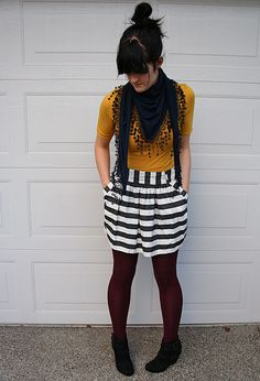 Awesome scarf and skirt!