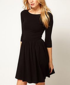Another great find on #zulily! Black Fit & Flare Dress by Vivo Fashion #zulilyfinds