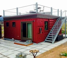 Love the rooftop, almost exactly how I imagine 35 Stunning Container House Plans Design Ideas - Googodecor Tiny House Cabin, Tiny House Living, Tiny House Plans, Tiny House Design, Building A Container Home, Container Buildings, Container Architecture, Home Design Plans, Plan Design