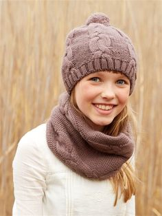 SNOOD FILLE TORSADES TAUPE ROSE