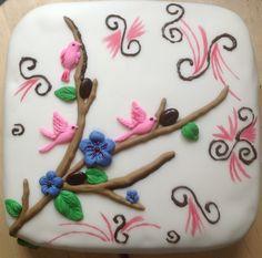 Fondant taart lente Love Cake, Beautiful Cakes, Fondant, Cake Art, Gum Paste, Pretty Cakes, Candy