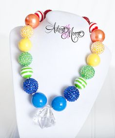Your place to buy and sell all things handmade Chunky Bead Necklaces, Chunky Jewelry, Chunky Beads, Beaded Jewelry, Beaded Necklace, Unique Jewelry, Kids Necklace, Girls Necklaces, Crafts To Sell