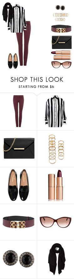"""""""Laila (19)"""" by hipsterfashionista1 ❤ liked on Polyvore featuring 7 For All Mankind, Balmain, MICHAEL Michael Kors, Forever 21, Charlotte Tilbury, Alexander McQueen, Givenchy and Cash Ca"""