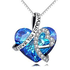 GAEA H Necklaces for Women Fashion Made with Swarovski Forver Love Heart Diamond Crystals Fine Pendants Jewelry jTSFcS