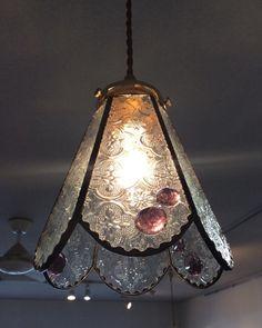 フローラガラスのペンダントランプ☆彡(シェードと灯具のセット)
