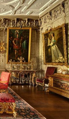 Knole, England - layers of gold, silver, crimson and damask English Interior, Classic Interior, Marquise, Palace Interior, Interior And Exterior, Beautiful Architecture, Architecture Details, Palaces, Beautiful Interiors