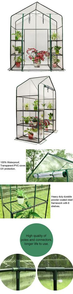Greenhouses and Cold Frames 139939: Peaktop® 6 Shelves Portable Mini Greenhouse Green Grow Hot House -> BUY IT NOW ONLY: $55.98 on eBay!