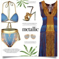 A fashion look from June 2017 featuring M Missoni dresses, Marco de Vincenzo sandals e Christian Dior sunglasses. Browse and shop related looks.