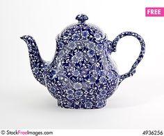 Fancy Blue Teapot