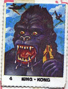 King Kong from Monstruos Diabolicos Flickr: Rafa Toro Terrifying stickers from the 80´s.
