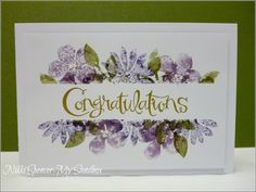 Congratulations card by Nikki Spencer