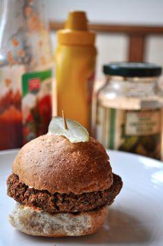 Black Bean and Red Quinoa Veggie Sliders - Vegan