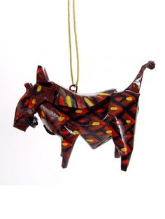 Warthog Ornament | Handmade from recycled tin cans in Zimbabwe. $12