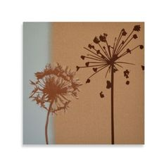 Studio Arts Floral Etch On Linen Wall Art - BedBathandBeyond.com