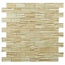 Timber Glass Glass Textured Mosaic in Cream
