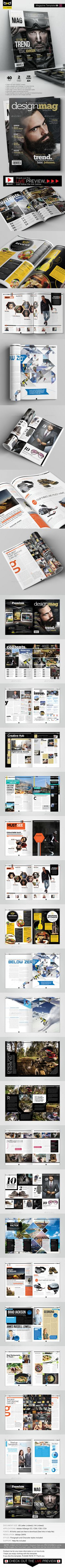 Magazine Template - InDesign 40 Page Layout V6 - #Magazines Print #Templates Download here: https://graphicriver.net/item/magazine-template-indesign-40-page-layout-v6/10374588?ref=alena994