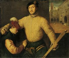 Francesco Beccaruzzi - Ball Player with his Page -  103 x 117 cm,  Oil on canvas Gemäldegalerie, Berlin