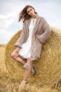 Cardigan Outfits, Long Cardigan, Chunky Knitwear, Fall Winter, Autumn, Pullover, Elegant, Bohemian, Satin