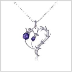 Thistle Heart Necklace