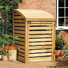 cache poubelle bois construction-jardin-palettes-idées-originales