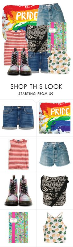 """""""Original Character #12 - Bhraja"""" by capricandycorn ❤ liked on Polyvore featuring Frame, TF Publishing, Saint James, RE/DONE, Dr. Martens, Pilot, Lilly Pulitzer and WithChic"""