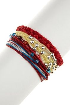Pura Vida Bracelets  All American Assorted String Bracelet Set