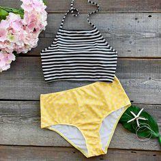 Cupshe Summer Dreams Printing Halter Bikini Set