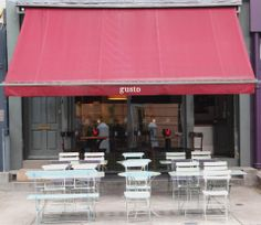 "See 23 photos and 8 tips from 160 visitors to Gusto Notting Hill. ""Great place, nice terrace in an awesome neighbourhood. Notting Hill London, Outdoor Dining, Outdoor Decor, Kensington London, London Restaurants, Shop Interiors, Hyde Park, Urban Design, London England"