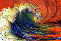 oil pastel ocean - Google Search