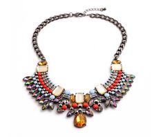 Bittersweet Iridescent Statement Necklace   Girl Intuitive