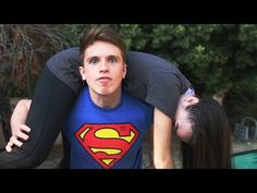 Guy performing WWE Finishers on his Girlfriend (Video)