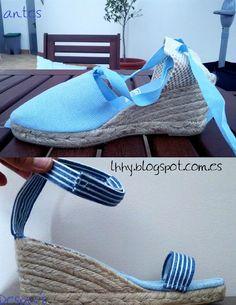 Shoe refashion! Reciclar unas alpargatas para hacer unas sandalias veraniegas!