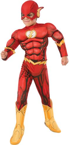 boy's costume: flash deluxe | large