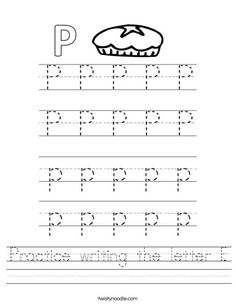 mira preschool trace the words that begin with the letter p worksheet 978