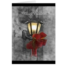 Christmas Lantern in the Snow Card