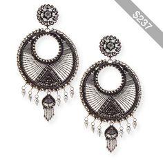 Dannijo Tricia Medallion Drop Earrings