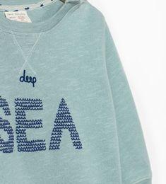 "Image 4 of ""SEA"" SWEATSHIRT from Zara"