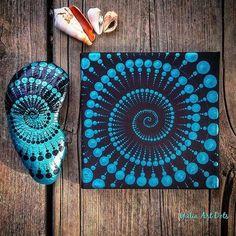 Sieh dir dieses Instagram-Foto von @yuliart.dots an • Gefällt 1,879 Mal Seashell Painting, Dot Art Painting, Mandala Painting, Painting Patterns, Stone Painting, Mandala Painted Rocks, Mandala Rocks, Mandala Design, Mandala Canvas