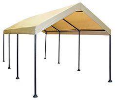 caravan canopy mega domain 10 x 20feet carport tan amazon top