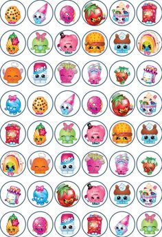 SHOPKINS 48 x 3cm Cupcake Toppers Edible Rice Paper in Crafts, Cake Decorating…