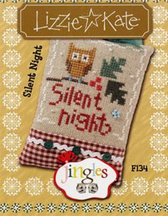 Lizzie Kate Flip-It Jingles - Silent Night F134 - Christmas Cross Stitch Pattern Chart with button, beads by DebiCreations on Etsy https://www.etsy.com/listing/158116720/lizzie-kate-flip-it-jingles-silent-night