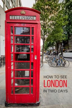 Who else loves a red phone booth?! From quaint Notting Hill to regal Buckingham Palace and its famous neighbour Big Ben, here's how to see London's top sights in just two days.