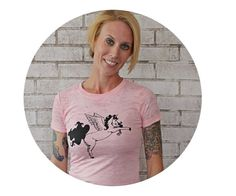 Flying Unicorn Burnout Tshirt Ladies Clothing by CausticThreads